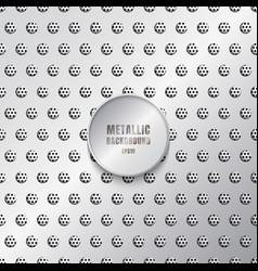 shiny metal background in silver color vector image