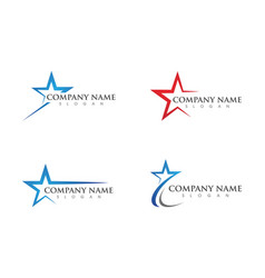 Star logo template vector