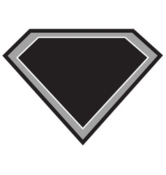 super hero black vector image