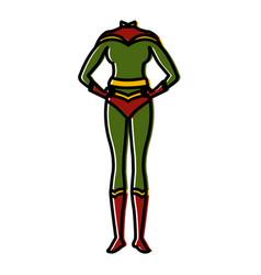 superhero women costume vector image