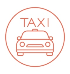 Taxi line icon vector