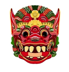 Todsakan face which is the demon king in thai khon vector