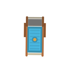 Top view sun lounger isolated icon vector