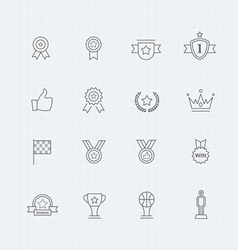 Trophy and prize thin line symbol icon vector image