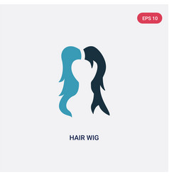 Two color hair wig icon from user concept vector