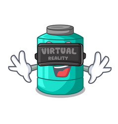 virtual reality cartoon water tank on the tower vector image