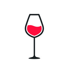 Wine glass cup icon red wine symbol pour drink vector