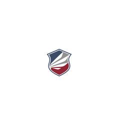 wing shield logo icon vector image