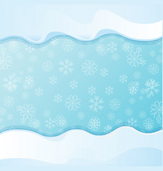 Winter snow caps isolated on blue sky vector