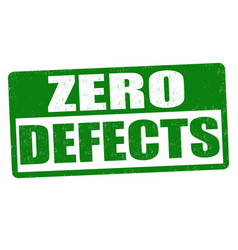 Zero defects sign or stamp vector