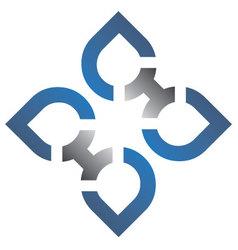 blue silver logo vector image vector image