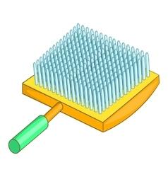 Dog brush icon cartoon style vector image
