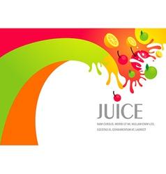juice fruit liquid drops splash colorful backgroun vector image vector image