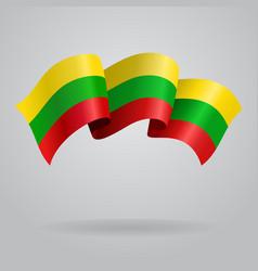 Lithuanian waving Flag vector image vector image