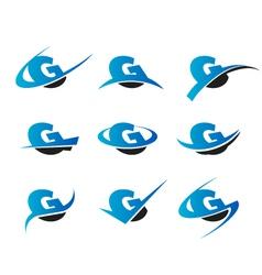 Alphabet g logo icons vector
