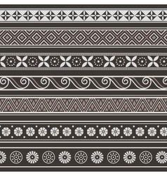 Ancient borders frames vector image vector image