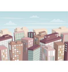 City landscape isometric view vector