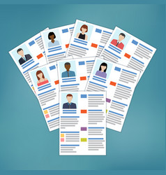 group of resume vector image