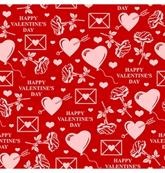 valentines seamless red vector image vector image