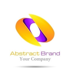 Abstract logo template business icon vector image
