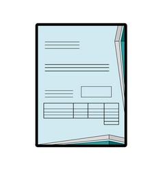 Bill page icon vector