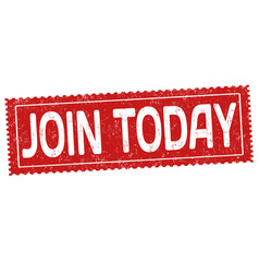 join today sign or stamp vector image