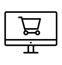 online shopping pixel perfect thin line icon 48x48 vector image