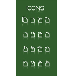 simple white icons vector image vector image