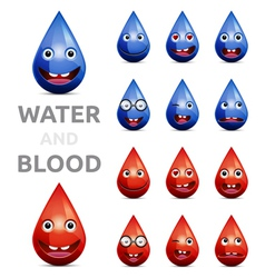 water and blood vector image vector image
