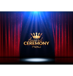 Award ceremony design template Award event with vector image vector image