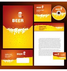 creative corporate identity beer splash liquid vector image vector image