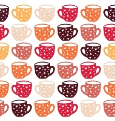 Cups seamless pattern vector image vector image