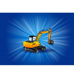 digger on the blue background vector image