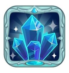 Fairy cartoon square crystals app icon vector image vector image