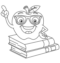 outlined smart apple vector image