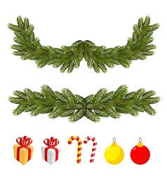 Traditional Christmas set for festive decorations vector image