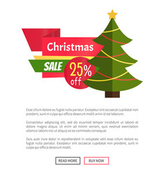 25 off christmas sale card vector