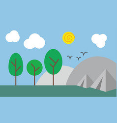 abstract camping scene in nature vector image