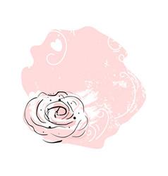 abstract romantic decor print vector image