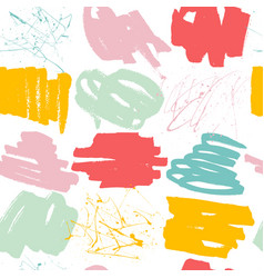 abstract seamless pattern with hand drawn shapes vector image