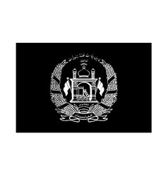 Afghanistan flag black and white country national vector