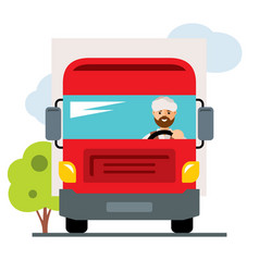 arab truck driver flat style colorful vector image