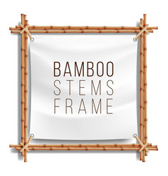 Bamboo frame template good for tropical vector