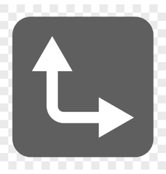 Bifurcation Arrow Right Up Rounded Square Button vector