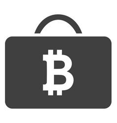 Bitcoin case flat icon symbol vector