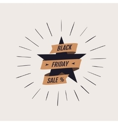 Black friday shopping label vector
