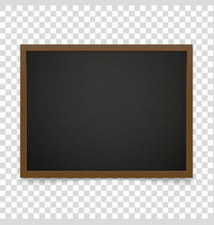 Blackboard frame isolated on transparent vector