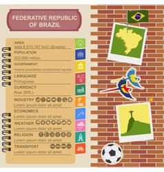 Brazil infographics statistical data sights vector
