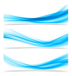 Bright blue soft elegant smoke swoosh air line vector