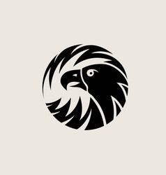 Circle eagle logo vector